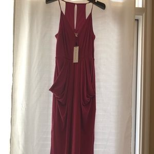 Raspberry pink midi BCBG dress
